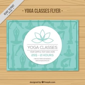 Flower yoga classes flyer