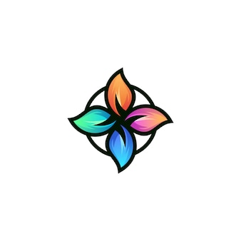 Flower yoga logo