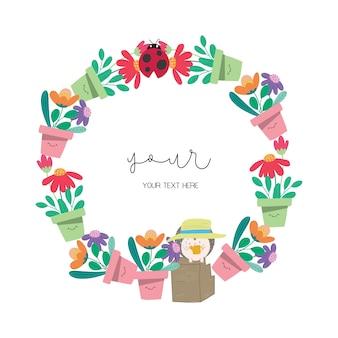 Flowerpot wreath design