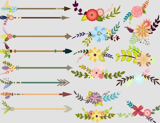 Коллекция цветов и стрелок