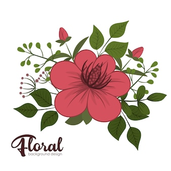 Flowers background illustration