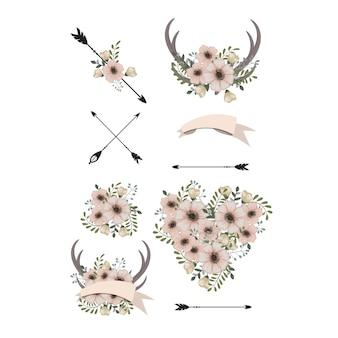 花の背景イラスト