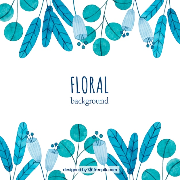 Free Flowers Background In Watercolor Style Svg Dxf Eps Png
