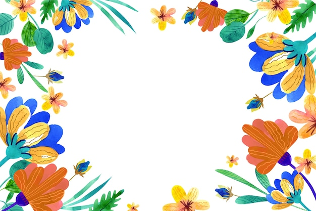 Flowers background in pastel colors