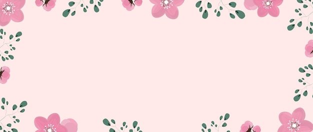 Flowers background for save the date illustration