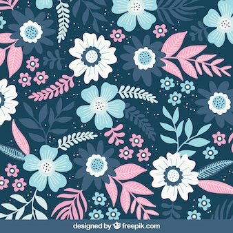 Flowers background with different species
