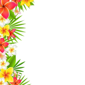 Flowers border, with gradient mesh,