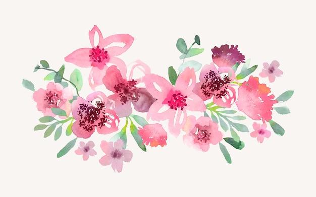 Flowers bouquet in watercolor