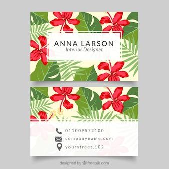 Flowers card interior designer