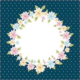 Flowers design over  blue background vector illustration