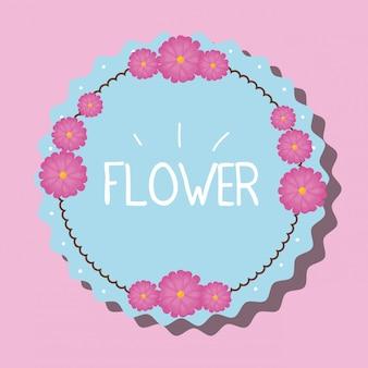 Flowers emblem illustration