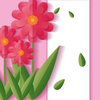 Flowers floral background frame