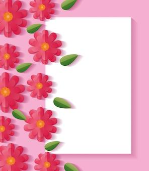 Цветочная рамка с цветами