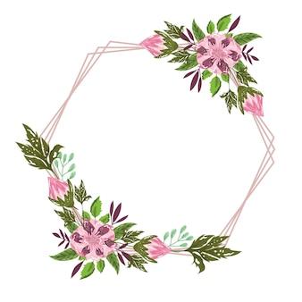 花の花の花束の装飾フレームイラスト絵画