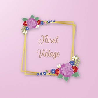 Цветы цветочная рамка из весенних цветущих веток