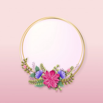Flowers floral frame of spring flowering branches