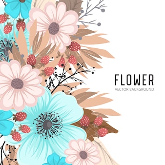 Flowers frame template.