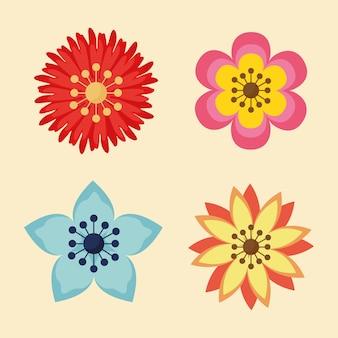 꽃 정원 식물 장식 아이콘