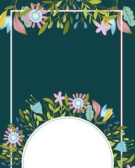 Flowers geometric banner