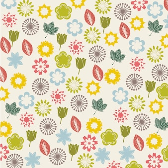 Flowers icons over beige background vector illustration