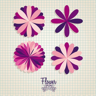 Значки цветов