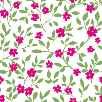 花の小枝と開花パターンの花