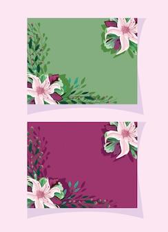 カードや結婚式の招待状の水彩風の花