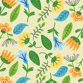 Flowers and leafs pattern decoration