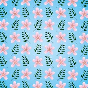 Цветы листья украшение фон