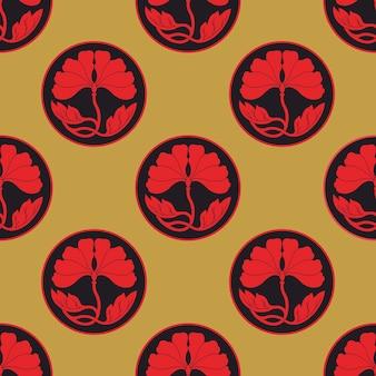 Цветы лотоса в горошек бесшовные модели плоский simlpe вектор illustraton
