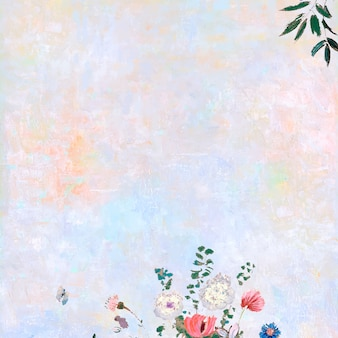 Flowers on a pastel canvas