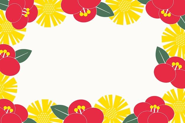 Цветы узор и значок вектор восточные приглашения и рамка фон