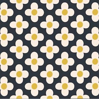 Flowers pattern background floral vector illustration