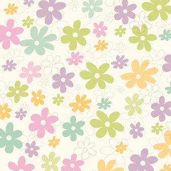 Flowers pattern background