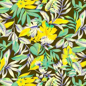 印刷背景の花柄のデザイン