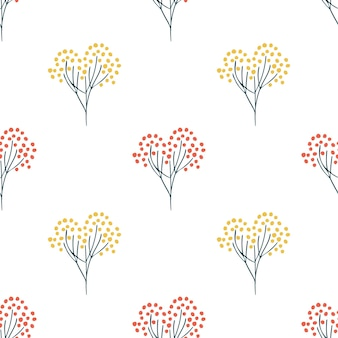 花柄スカンジナビアスタイル。花や植物のテクスチャ。花飾り。