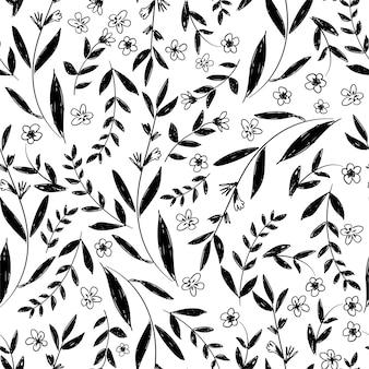 꽃 패턴 원활한 장식 벡터, 꽃 패턴입니다.