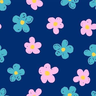 원활한 꽃 패턴입니다.