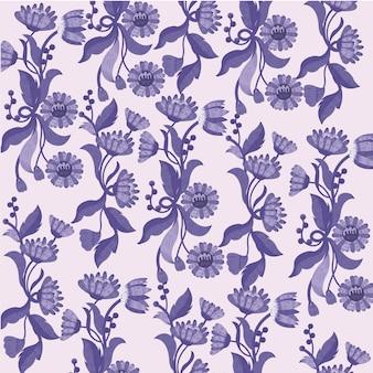 Цветы фиолетовом фоне