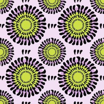 꽃 원활한 벡터 패턴