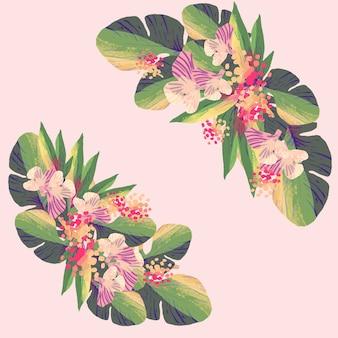 Flowers set in flat design