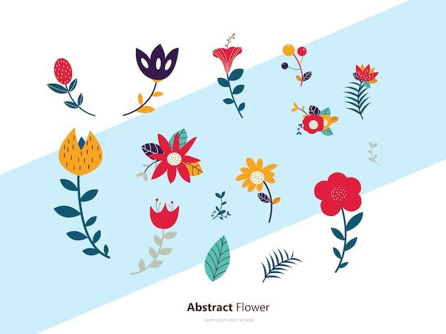Flowers set icon