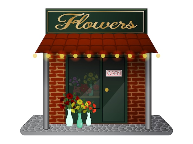 Магазин цветов. милый магазин