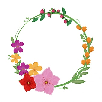 Flowers spring crown decoration