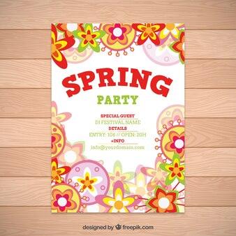Цветы весной партия флаер