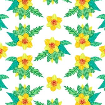Цветы весенний узор
