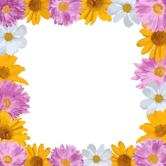 Flowers square frame