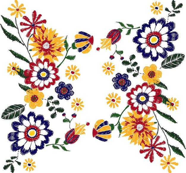 花のステッチ