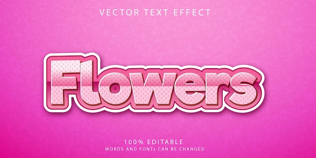 Flowers text effects style template