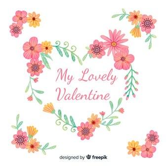 꽃 발렌타인 배경